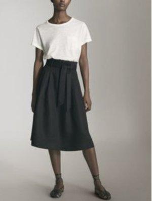 Massimo Dutti High Waist Skirt black