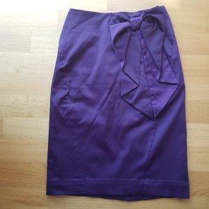 Falda de talle alto lila