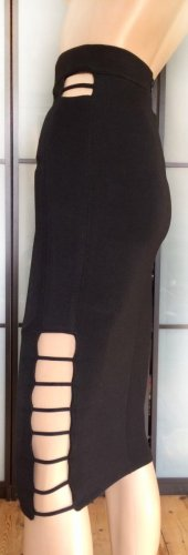 High Waist Rock mit Cut Outs
