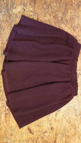 Pull & Bear High Waist Skirt bordeaux