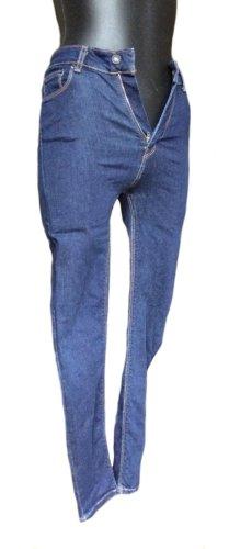Zara Woman Hoge taille jeans donkerblauw