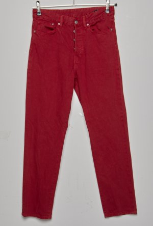 H&M Hoge taille jeans baksteenrood