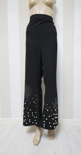 Pantalone a zampa d'elefante nero-bianco