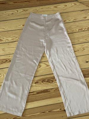 NA-KD Pantalone a zampa d'elefante color oro rosa-crema