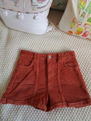 High Waist Shorts aus Cord neu