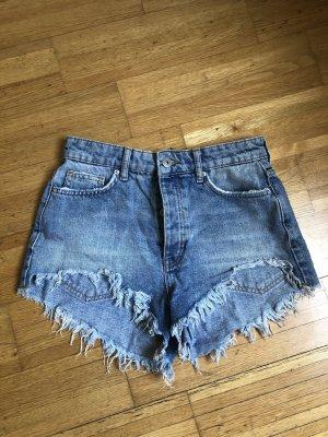 High Waist Shorts aus Denim