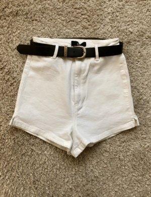 Pantaloncino a vita alta bianco