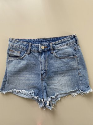 H&M Short taille haute bleu pâle-bleu azur