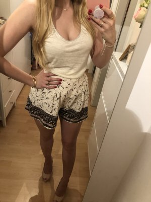 High Waist Shorts H&M Creme 36