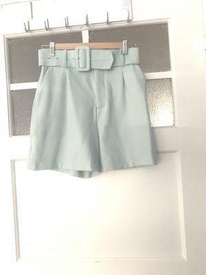 High Waist Shorts in mint grün