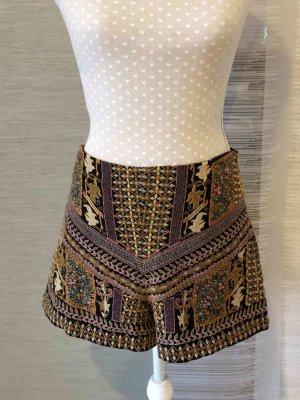 Zara Shorts multicolor tejido mezclado