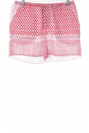 High-Waist-Shorts rot-weiß Mustermix extravaganter Stil