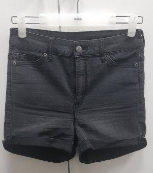 H&M Divided Pantalón corto de talle alto gris oscuro