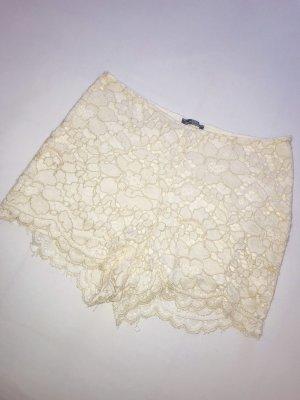 Zara Pantaloncino a vita alta bianco sporco
