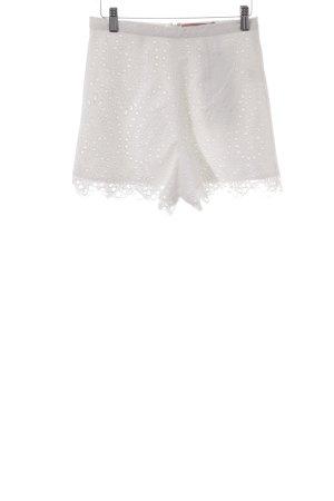 Szorty z wysokim stanem biały W stylu casual
