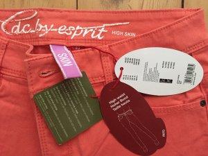 High waist skin Jeans von Esprit in Koralle - neu mit Etikett