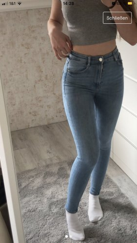 Authentic Style Hoge taille jeans azuur-korenblauw