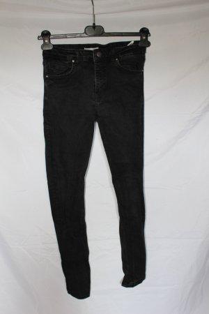 high waist, skinny jeans, Röhrenjeans, schwarz, eng, stretch