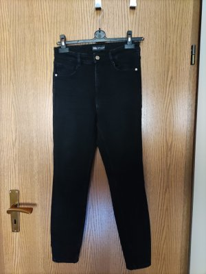 High Waist Skinny Jeans schwarz, ZARA