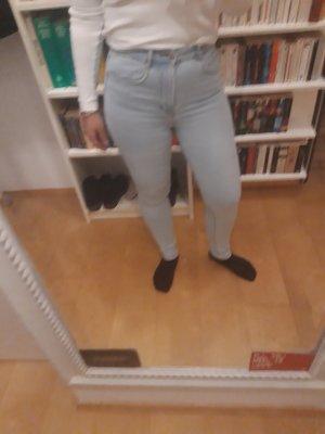 Zara Trafaluc Hoge taille jeans lichtblauw