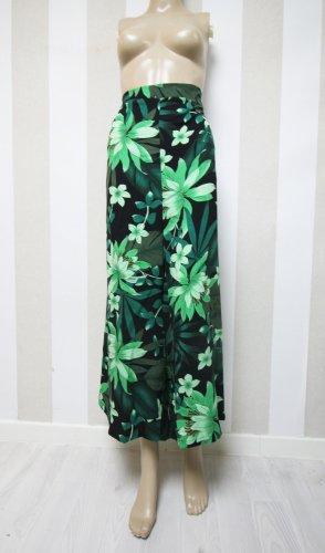 Pantalón de cintura alta negro-verde