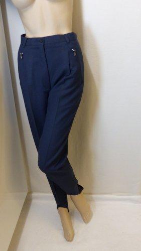Madeleine Pantalone di lana blu scuro-argento Lana vergine