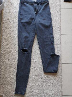 Bershka Jeans stretch gris anthracite