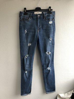 High Waist Super Skinny Jeans in dunkelblau