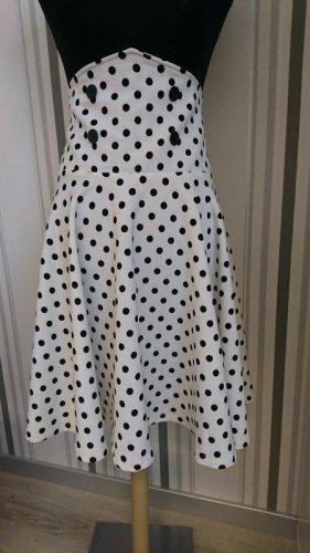 Circle Skirt white-black mixture fibre