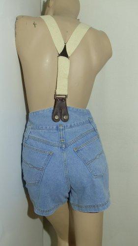 High Waist Träger-Jeansshorts, Gr. 32/34