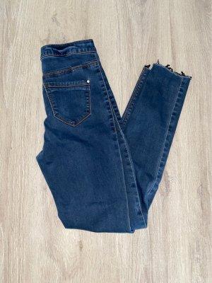 High Waist Tube Jeans