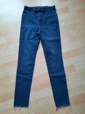 H&M Pantalone a vita alta blu scuro