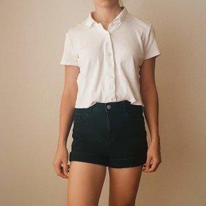 high waist zara black denim shorts