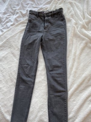 Zara Pantalone a vita alta grigio