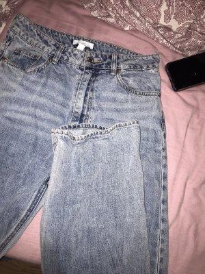 H&M Workowate jeansy niebieski