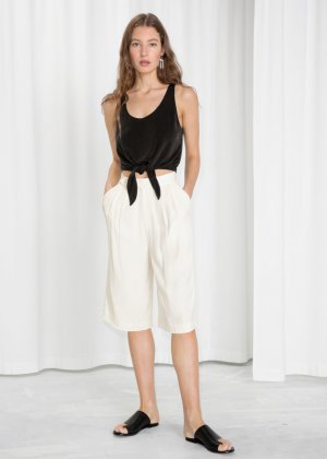 High Waisted Bermuda Shorts von & other stories neu Gr. 38 Seidenanteile