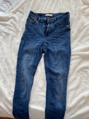 Gina Tricot Pantalone a vita alta blu acciaio