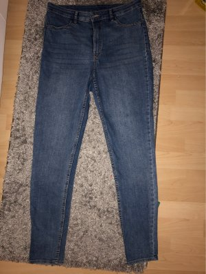 H&M Divided Jeans a vita alta azzurro