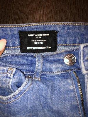 High waisted Jeans Blau