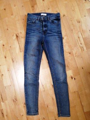 Mango Denim & Tees Drainpipe Trousers slate-gray