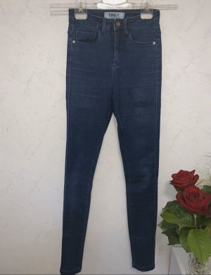 Only Hoge taille jeans blauw-donkerblauw