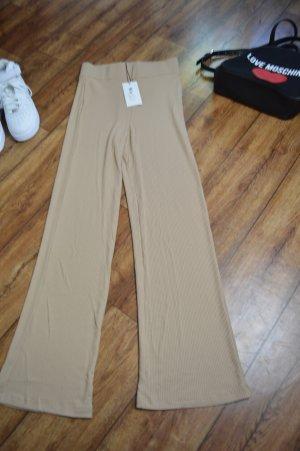 High Waisted Ribbed Pants Nakd beige Gr. 36/38