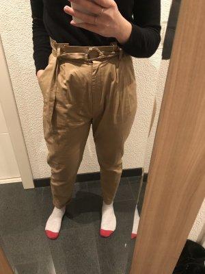 24Colours Pantalon taille haute beige