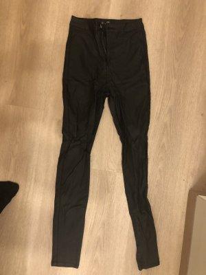 Vice Pantalon en cuir noir