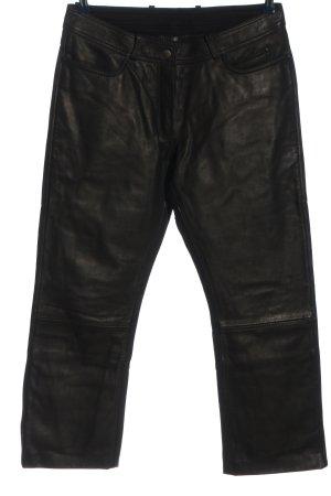 HIGH WAY Pantalón de cuero negro look casual