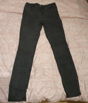 Orsay Pantalon taille haute gris