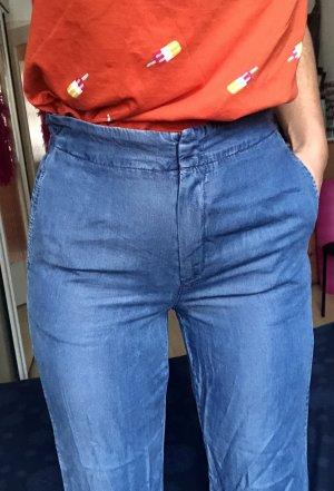 High Weist Culotte Jeans Große M