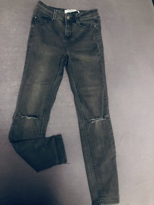 H&M Jeans taille haute gris anthracite