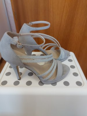 Anna Field Hoge hakken sandalen zilver