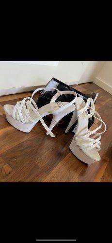 Sandales à plateforme blanc